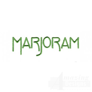 Marjoram Word Embroidery Design