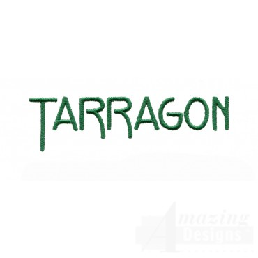 Tarragon Word Embroidery Design