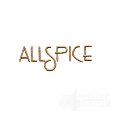 Allspice Word Embroidery Design