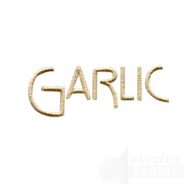 Garlic Word Embroidery Design