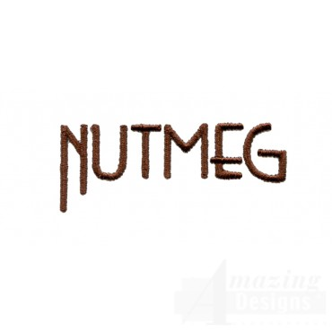 Nutmeg Word Embroidery Design