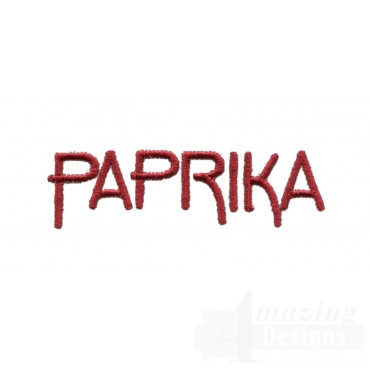 Paprika Word Embroidery Design