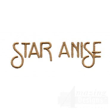 Star Anise Word Embroidery Design