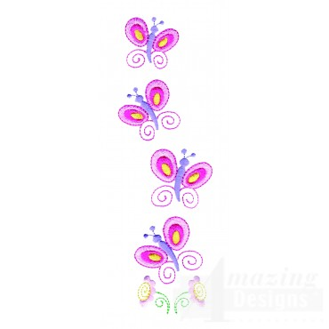 Butterfly Line Embroidery Design