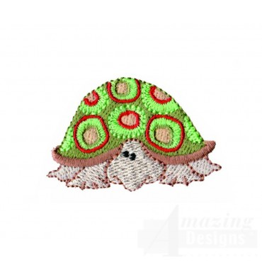 Turtle In Shell Embroidery Design