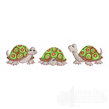 Turtle Line Embroidery Design
