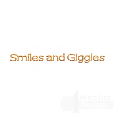 Smiles And Giggles Embroidery Design