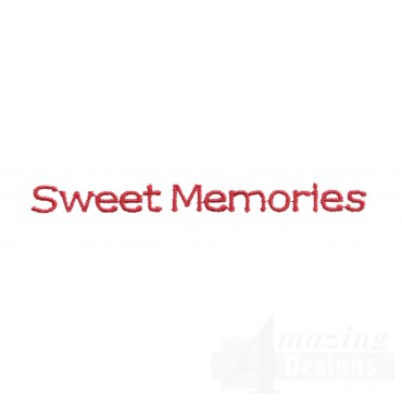 Sweet Memories Embroidery Design