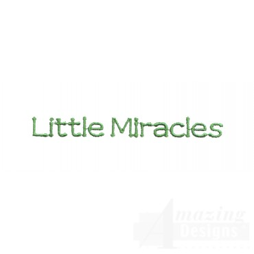 Little Miracles Embroidery Design