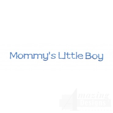 Mommys Little Boy Embroidery Design