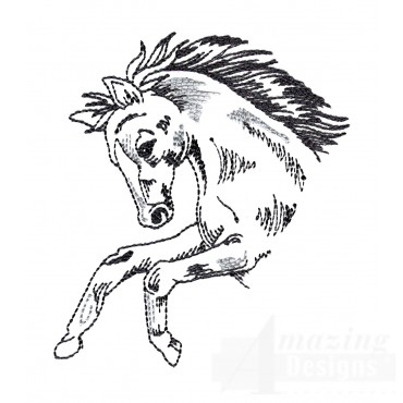 Prairie Stallion Embroidery Design