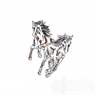 Gallping Prairie Horse Embroidery Design
