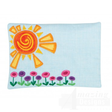 Sunny Applique Mug Rug Embroidery Design