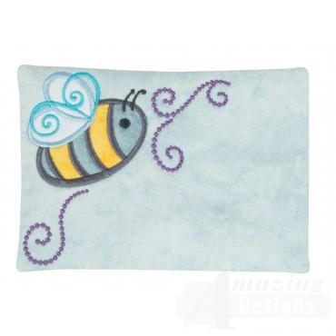 Busy Bee Applique Mug Rug Embroidery Design