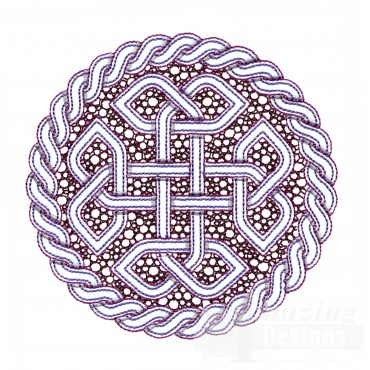 Outline Circle Knot 1 Embroidery Design