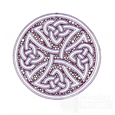 Outline Circle Knot 2 Embroidery Design