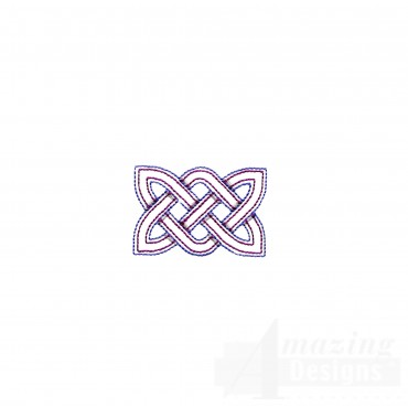 Small Outline Rectangle Knot Embroidery Design