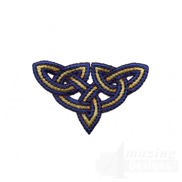 Triangular Celtic Knot Embroidery Design