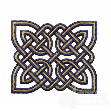 Rectangular Celtic Knot Embroidery Design