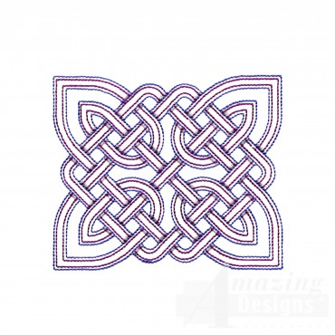 Rectangular Outline Celtic Knot Embroidery Design