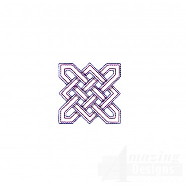 Square Outline Celtic Knot Embroidery Design
