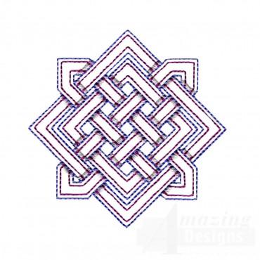Diamond Outline Celtic Knot Embroidery Design