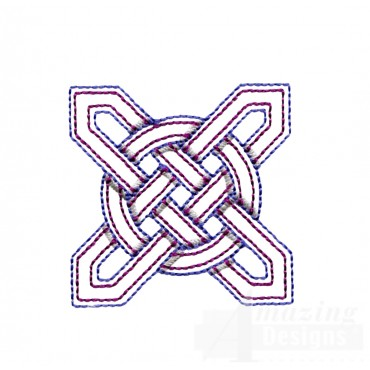 Star Outline Celtic Knot Embroidery Design