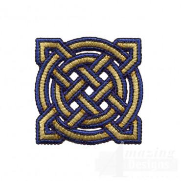 Circle And Star Celtic Knot Embroidery Design