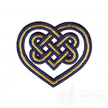 Heart Celtic Knot Embroidery Design