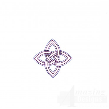Diamond Outline Celtic Knot Embroidery Design