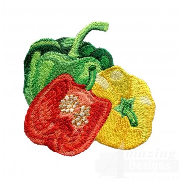 Colored Peppers Embroidery Design