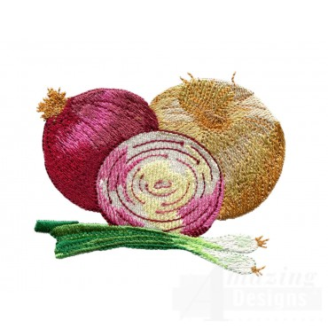 Onions Embroidery Design