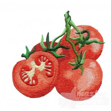 Tomato Bunch Embroidery Design