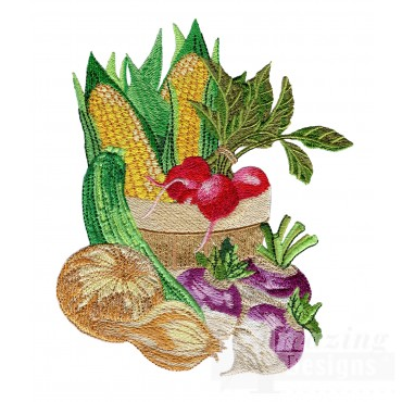 Harvest Basket 1 Embroidery Design