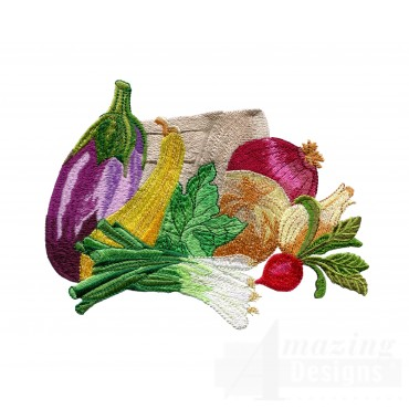 Harvest Basket 2 Embroidery Design