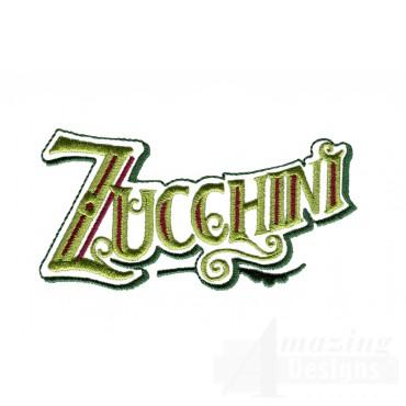 Zucchini Lettering Embroidery Design