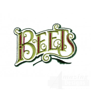 Beets Lettering Embroidery Design
