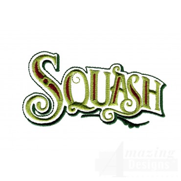 Squash Lettering Embroidery Design