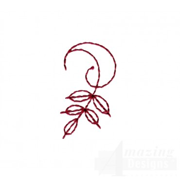 Autumn Crewel Leaf Embroidery Design