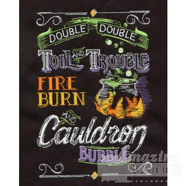 Double Double Toil Trouble Embroidery Design