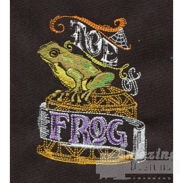 Toe Of Frog Embroidery Design