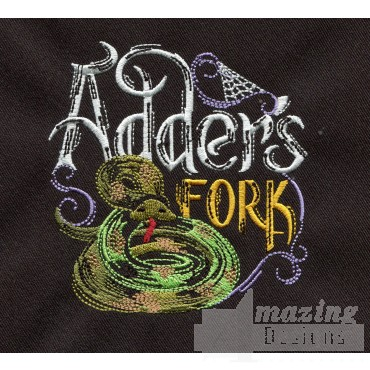 Adders Fork Embroidery Design