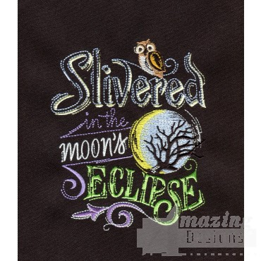 Silvered Moon Eclipse Embroidery Design