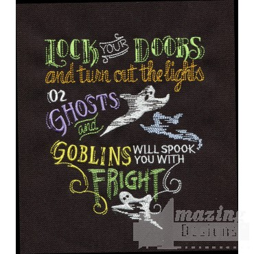 Ghosts And Goblins Embroidery Design