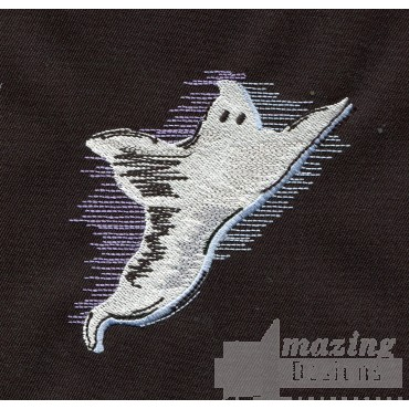 Flying Ghost Embroidery Design