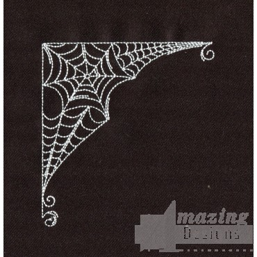 Spider Web Corner Embroidery Design