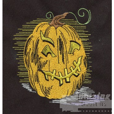 Jack O Lantern Embroidery Design