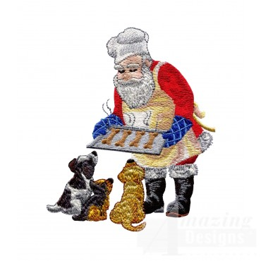 Santa With Treats Embroidery Design