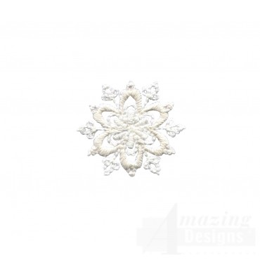 Crewel Snowflake 3 Embroidery Design
