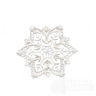 Crewel Snowflake 10 Embroidery Design